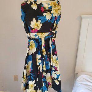 Ixia Dress Sleeveless Floral Cotton Dress